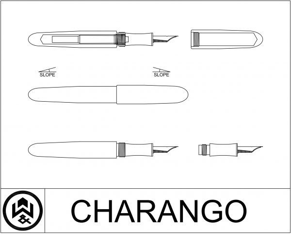 wet and wise cad design drawing charango