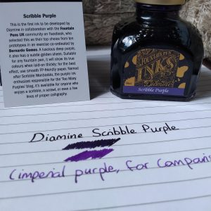 Diamine Scribble Purple-80ml Bottled Ink