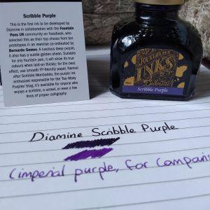 Diamine Scribble Purple-80ml Bottled Ink