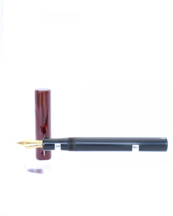 Wet and Wise Dark Red Ripple Modest Fountain Pen