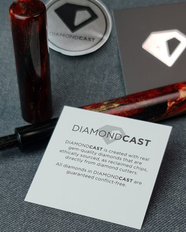 Wet and Wise Red Diamond Dragon Fountain Pen